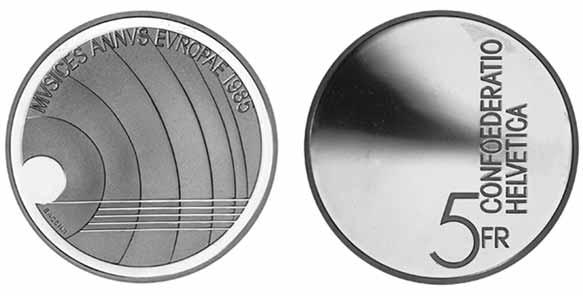 5 Fr Gedenkmünzen Schweiz Sammlerladen