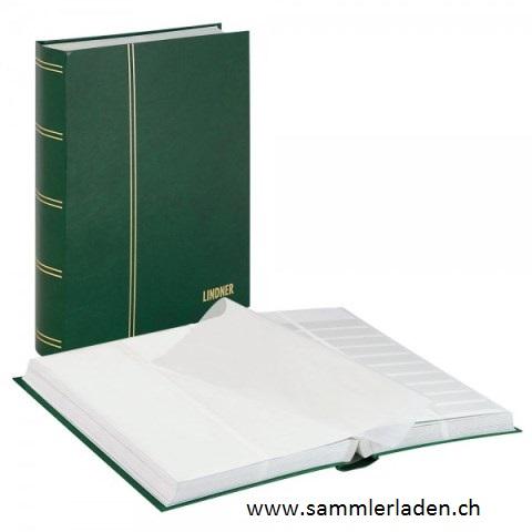 einsteckbuch standard unwattiert 64 wei e seiten geteilte pergamin streifen sammlerladen. Black Bedroom Furniture Sets. Home Design Ideas
